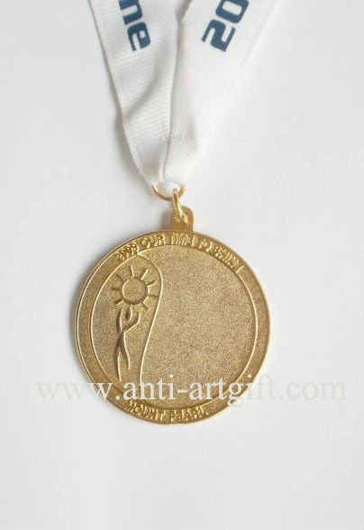 2020 NEW Sport medals gold plated white ribbon high quality No MOQ