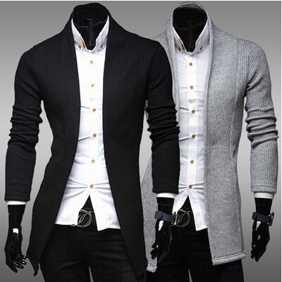 2019 warm new concise fashion sweater cardigan sweater coat of cultivate one's morality man v-neck sweater