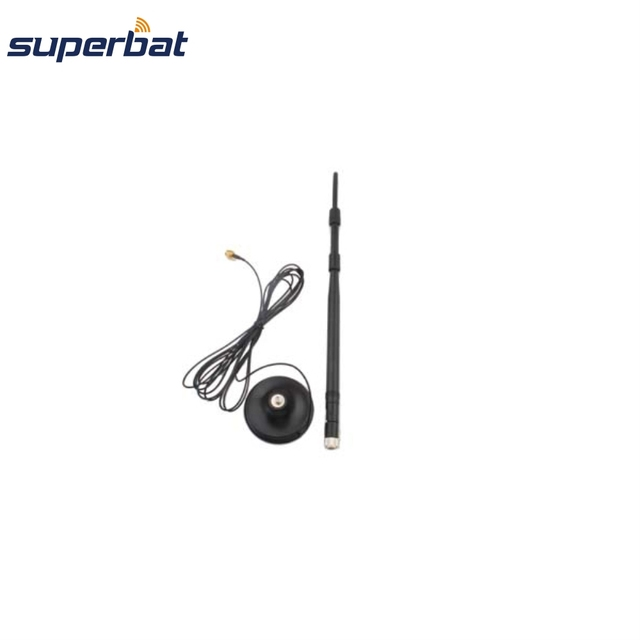 Superbat 2.4GHz 9dBi 2400-2500MHz Omni WIFI Antenna Aerial Booster with 50 Ohm 3M Extended Cable RP-SMA Male Customizable