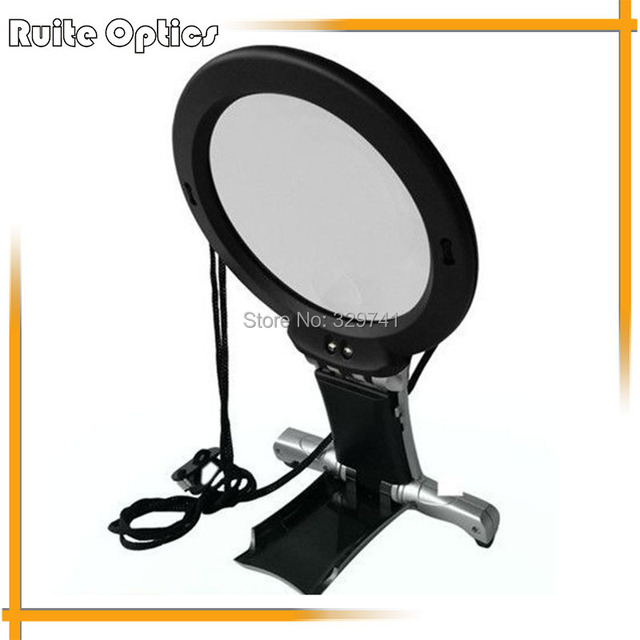 Embroidery Reading 2.25X,5X Hands Free Suspended Desktop Dual Purpose Magnifying Glass LED Magnifier with a Hanging Neck Strap