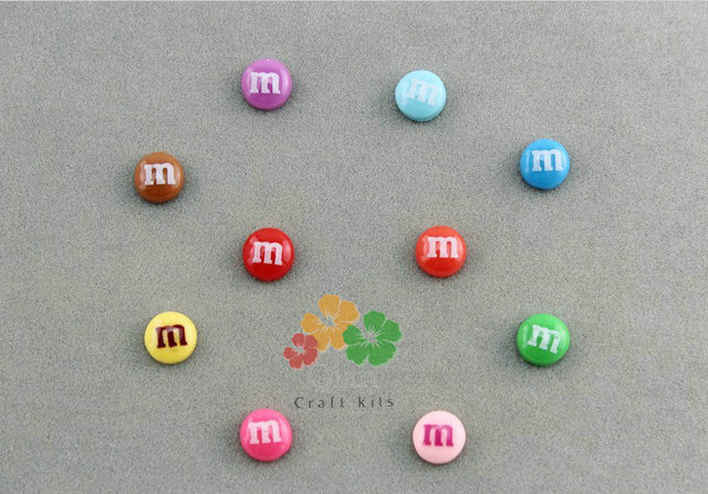 300pcs mixed lovely miniature M beans Cabs 8mm Cell phone decor, naill art supply, embellishment, DIY