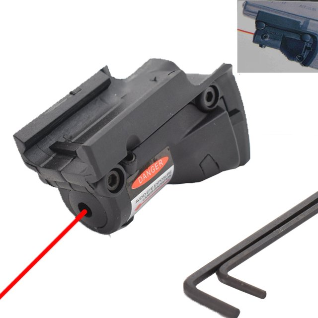 Tactical 5mw Red Laser sight Scope Pistol Rifle Airsoft Hunting Red Dot Laser for Glock 19 23 22 17 21 37 31 20 34 35 37 38