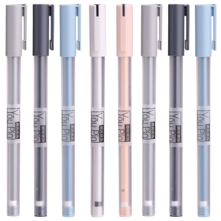 Brief Quality Gel Pen 0.35mm Fine Point Black/Blue Gel Ink Pens For School And Office