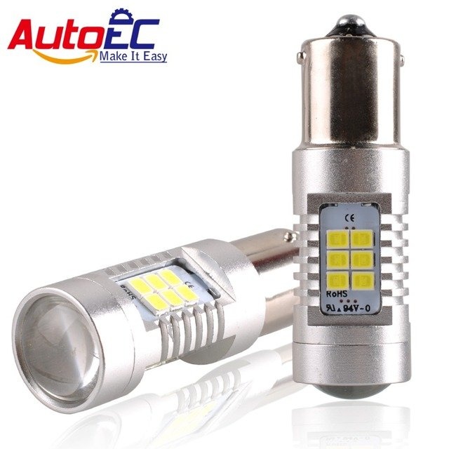 AutoEC 2x1156 BA15S P21W 1157 BAY15D P21/5W Car Led Light 24 smd 2835 Brake Tail Turn Signal Light Bulb Lamp DC 12V