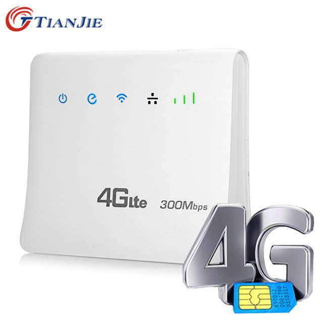 TIANJIE Unlocked 300Mbps Router Wireless Wifi 3G 4G GSM Lte Cpe Mobile With Lan Port Support Sim Card Slot