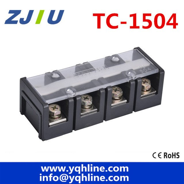 TC-1504 Fixed Terminal Block 600V 150A 4P large current Terminal blocks Universal Covered Barrier Screw copper wiring board