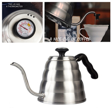 1200ML Coffee Gator Pour Over Kettle Stainless steel kettle Gooseneck Spout with Thermometer for Coffee
