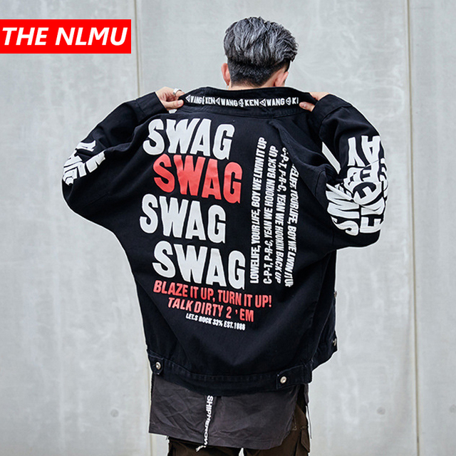 Letter Printed Denim Jackets Mens High Street Jeans Jacket Coat 2019 Men Women Hip Hop Brand Design Streetwear Black Wg268 Buy Cheap In An Online Store With Delivery Price Comparison Specifications