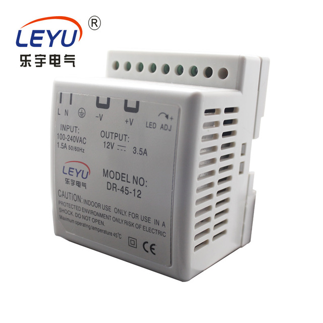 DR-45-24 55% Discount Shipping AC DC din rail 24v power supply with CE RoHS switching power supply
