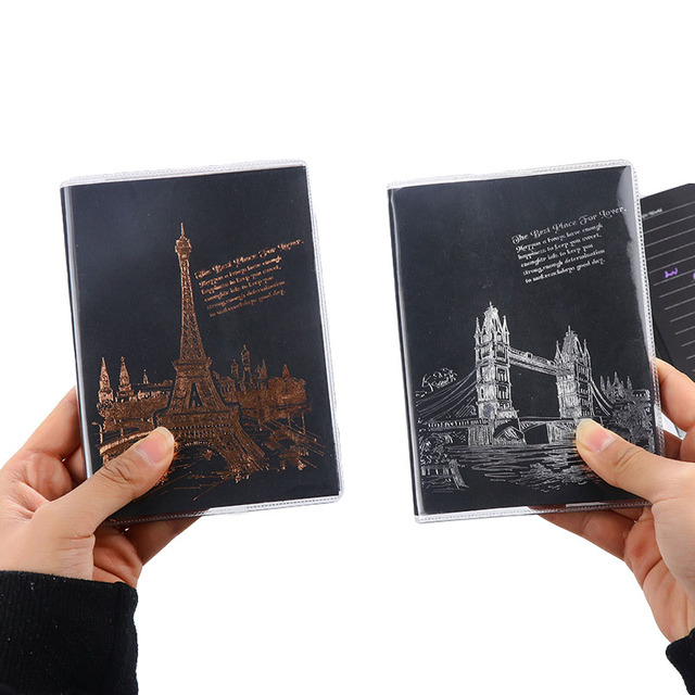 1pcs Random Creative Tower Notebook Black Lined Page Notepad Stationery Diary Notebook Soft Cover Office School Supplies