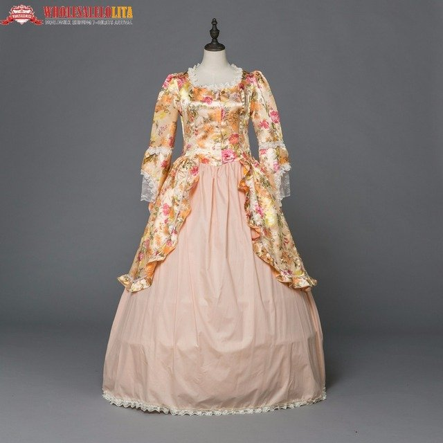 Georgian Gothic Victorian Dress Southern Belle Civil War Floral Dress Historical Ball Gown Theater Costume
