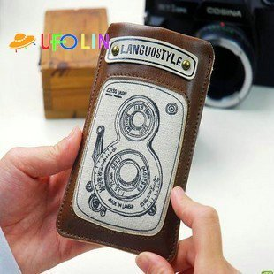P34-078 /New vintage languo style mobile phone case/mobile phone pouch/mobile phone bag/card case/wallet/smart fold pouch