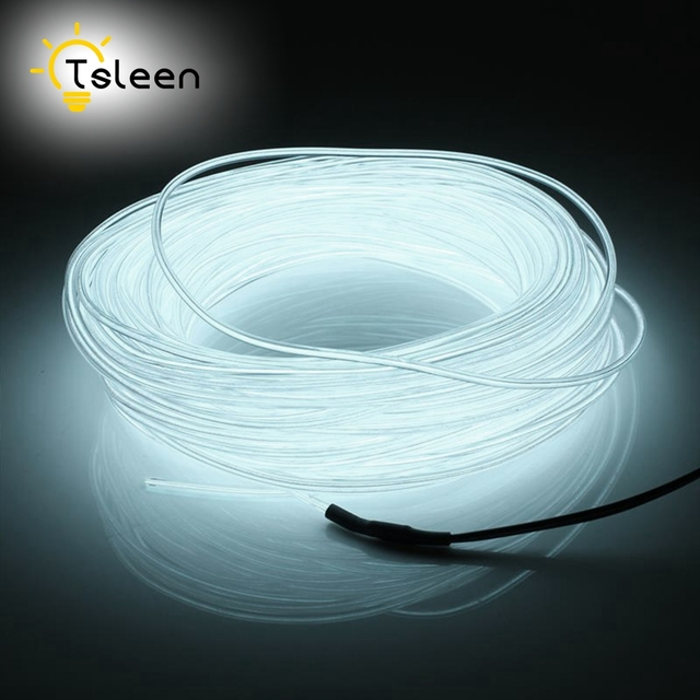 Cheap Led Strip EL Wire 2 3 5M Colorful Battery Powered 3V Flexible EL Wire Neon LED Light Portable Lamp Decorative Sring Line
