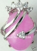 H-U-88U 6PC Fashion Jewelry Pink Ring size 7, 8, 9