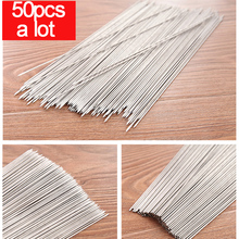 50pcs a lot/Vanzlife steel tube outdoor barbecue tools mutton string bag mail round needle sign steel iron prod