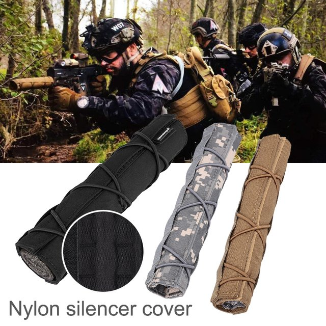 "Multicam Tactical Shield Sleeve Muffler Shooting Heat Cover Airsoft Muffler 2019 Mirage Heat Cover Suppressor Shield 8.66"" 22cm"