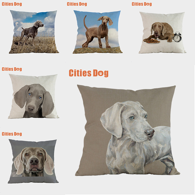 Weimaraner dog pillow covers decorative cushion covers for sofa Pillows Animal dogs pillowcase cushions cover home decor