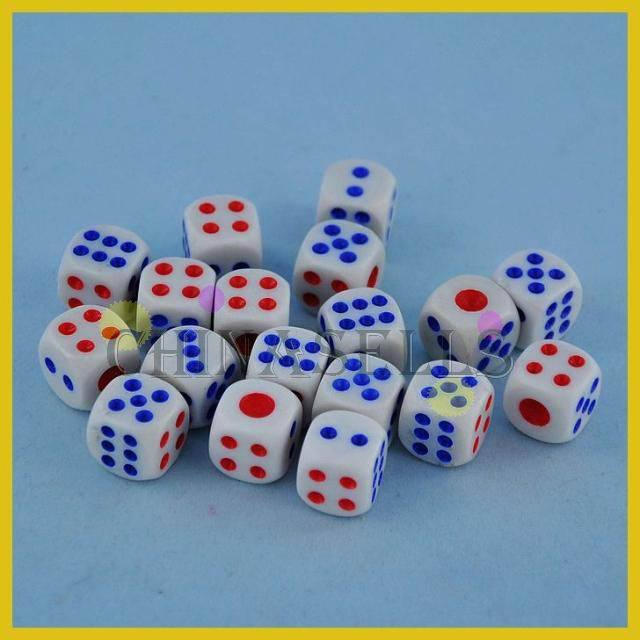30pcs Poker Chips dice 14mm Six Sided Spot Fun Board game Dice KTV bar game Games Party Dice Gambling Game Dices
