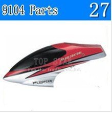 Double Horse rc helicopter spare parts 9104-27 canopy head cover Nose cover (red)