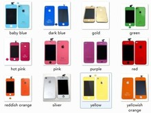 For iPhone 4/4S  color Replacement LCD with Touch Screen Digitizer Glass Brackets Assembly
