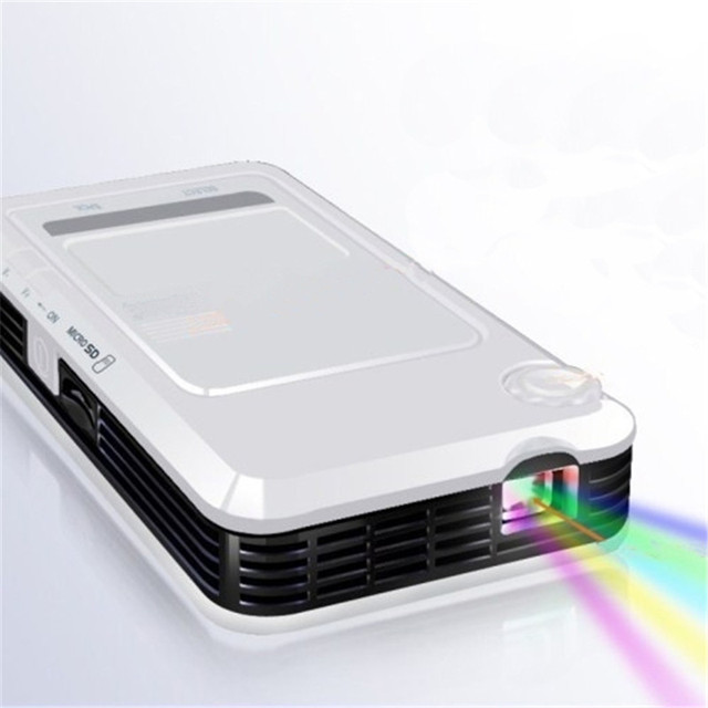 Gigxon - G3 Mobile Phone Projector DLP 50 Lumens Mini Portable 1080P HD Home Cinema Projector 854*480