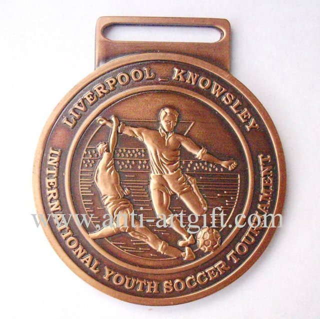 2020 football club campaign pins Sport medal High Quality 3D copper football game medallion