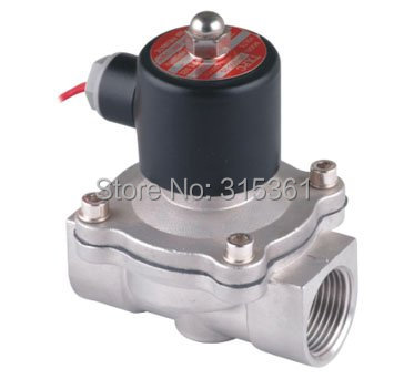 Free Ship 5PCS A Lot AC110V 1'' 2S250-25 Stainless Steel Solenoid Valve Normally Closed 2Way VITON Oil Acid