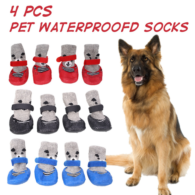 Pet Socks Dog Stockings Creative 4pcs S/M/L Warmer Accessories Clothing Clothes