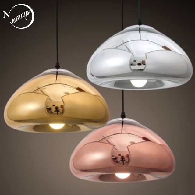 Modern creative loft glass pendant light LED E27 with 3 colors for living room bedroom kitchen cafe hotel restaurant office bar