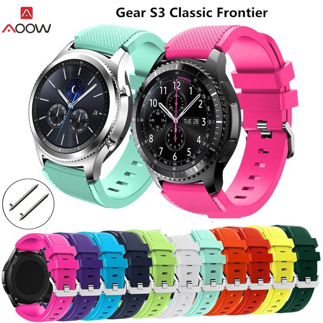 AOOW Silicone Watchband for Samsung Gear S3 Classic Frontier 22mm Watch band for Huami Amazfit Sport General Bracelet Watch Belt