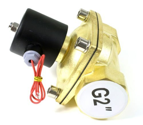 Free Shipping High Quality 2PCS In Lot 50mm Flow Bore G2'' Brass Valve Solenoid Water Control Valve Model 2W500-50 Voltage DC24V