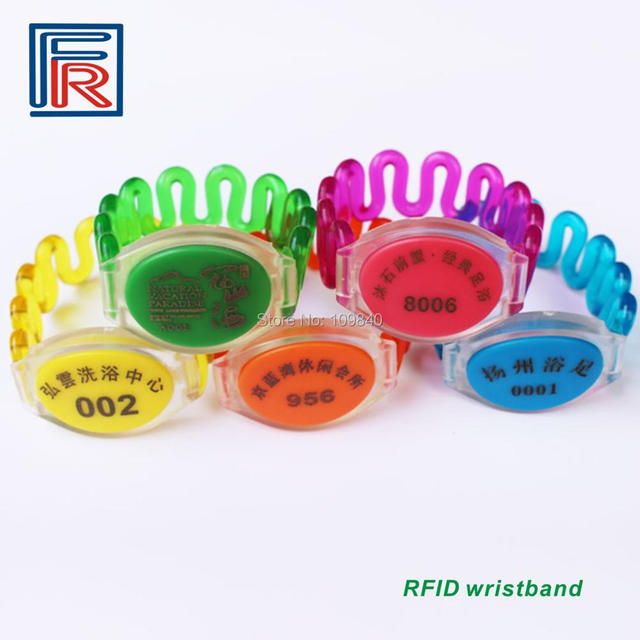 125KHz RFID ABS waterproof Contactless wristband for access control/VIP/EVENT/Security 100pcs/lot