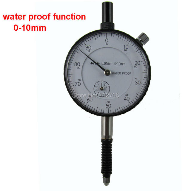 High quality 0-10mm 0.01mm water proof dial indicator dial gauge accuracy indicator tool with ear hook