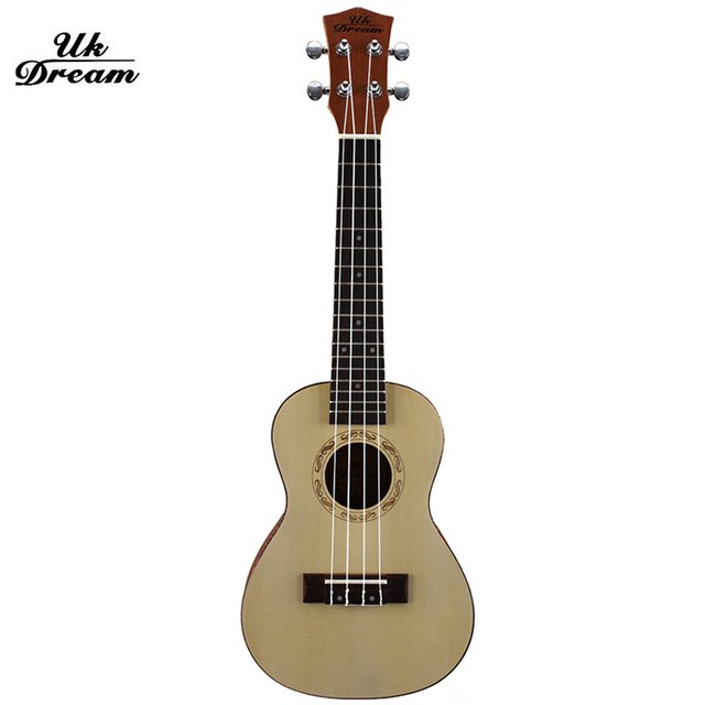 23 inch Soprano Ukulele Small Rosewood Guitar Four Strings 15 Fret Natural Rosewood Ukelele with Accessories UC-318