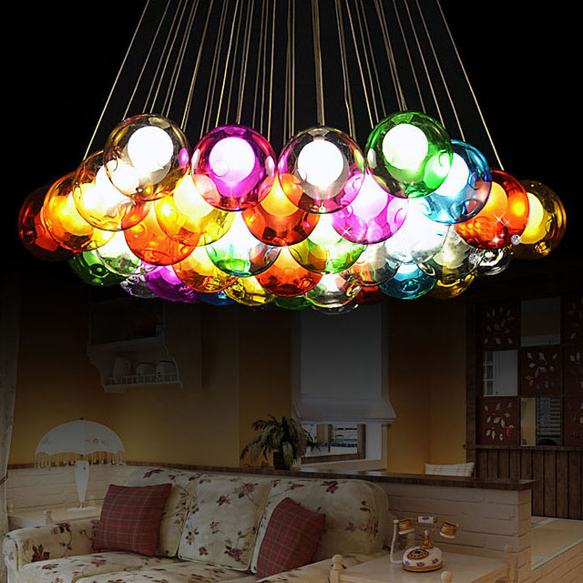 Creative Design Modern LED Colorful Glass Chandelier Living Room Bar Commercial Decorations LEDG4 110-240V Glass Lighting