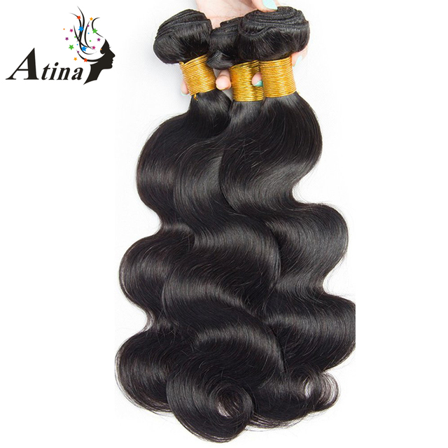 Malaysian Body Wave Remy Hair 3 Bundles Human Hair Weave 100% Human Hair Weaving Natural Color Hair Extensions Atina