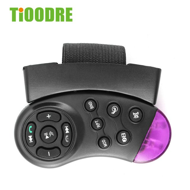 TiOODRE Car Steering Wheel Controller Car MP5 Multimedia Player DVD General Purpose Multimedia Portable 11-Key Controller