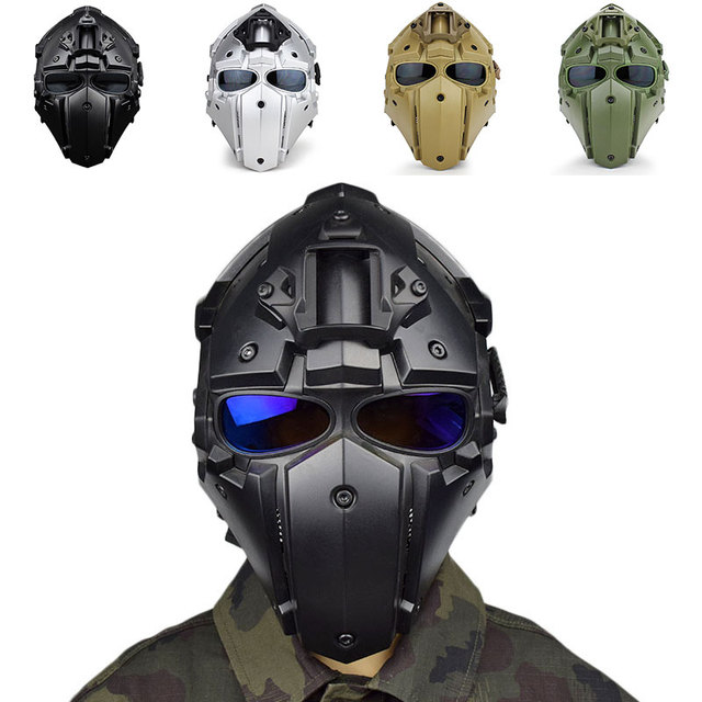Motorcycle Tactical Full Face Helmets Obsidian Casque Moto Racing Bicycle Helmet Fit Military Training Outdoor Cycling 4 Colors