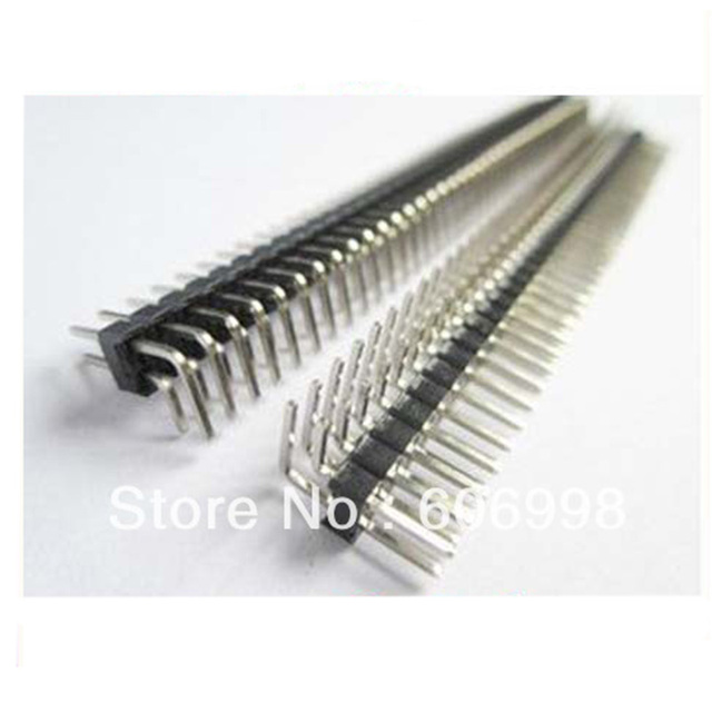 50pcs/lot 2.54mm 80P 2x40 Double Row Male Breakable Pin Header Connector