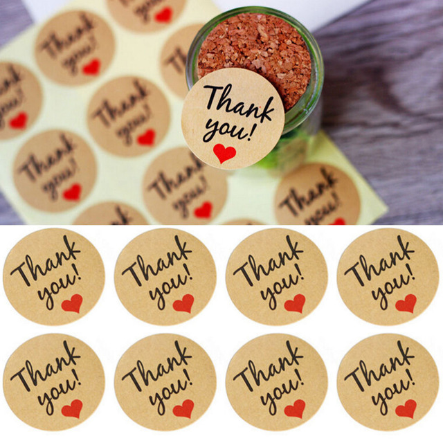 60Pcs Kraft Paper Thank You Gift Tags Wedding Favors Party Accessories Christmas DIY Wedding Vintage Wedding Decoration LablesP1