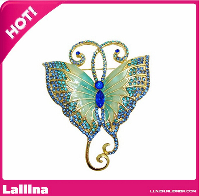 Free shipping Hot Sale 55mm butterfly Brooch For Event Wedding