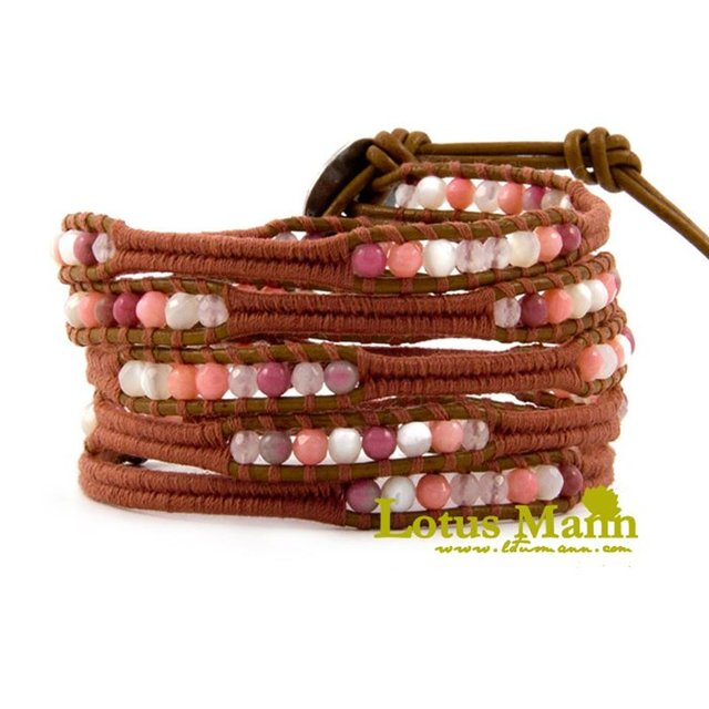 Lotus Mann Lucky semi-precious stones piece new gypsy sweet and pure and fresh concise multilayer bracelet for girls