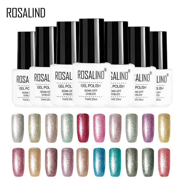 ROSALIND Nail Art Gel Nail Polish 7ML Gel Varnish Platinum UV Vernis Semi Permanent For Manicure Primer Top Coat Gel Polish