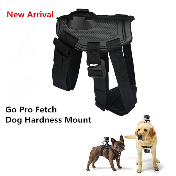 Fetch Harness Pet Dog Chest Strap Mount For Gopro Camera Hero 4 3plus 3 2 SJ4000 SJ5000 Xiaoyi Action Camera