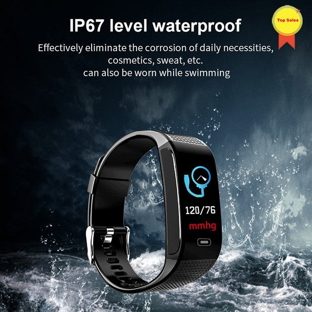 blood pressure wrist band heart rate monitor PPG ECG detect theory smart bracelet sport watch Activity fitness tracker wristband