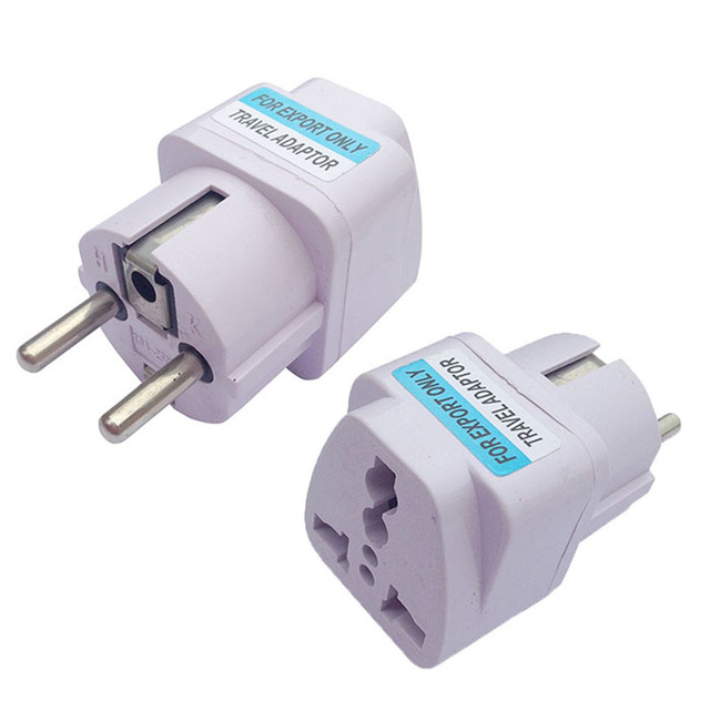 High Quality Convenient AC Power Travel Safe AU US UK To EU Europe DE Plug Adapter Converter With Track Number Factory price