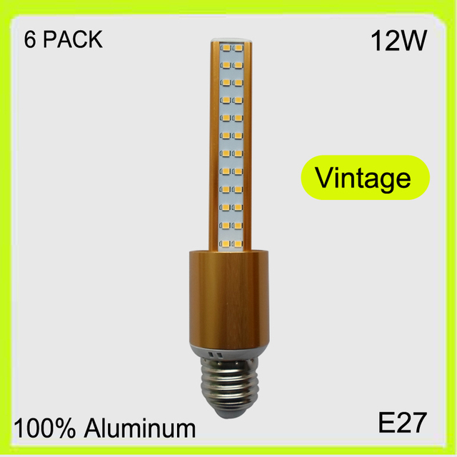 Manufacturer 6 PACK 3 YEAR WARRANTY 12W 96 LED corn bulbs led stick pendant light down light golden replace fluorescent tube