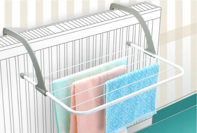 1PC Folding Metal Towel Storage Rack Cupboard Cabinet Bathroom Organizer Storage Rack Multi-purpose Clothes Drying Rack OK 0820