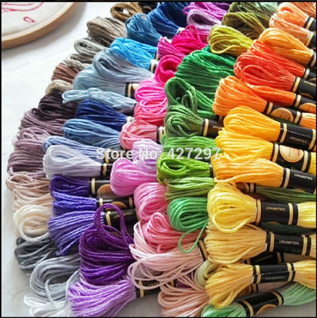 High Quality Embroidery Floss Thread 1 Lot=50 Pieces--Choose Your Own Colors