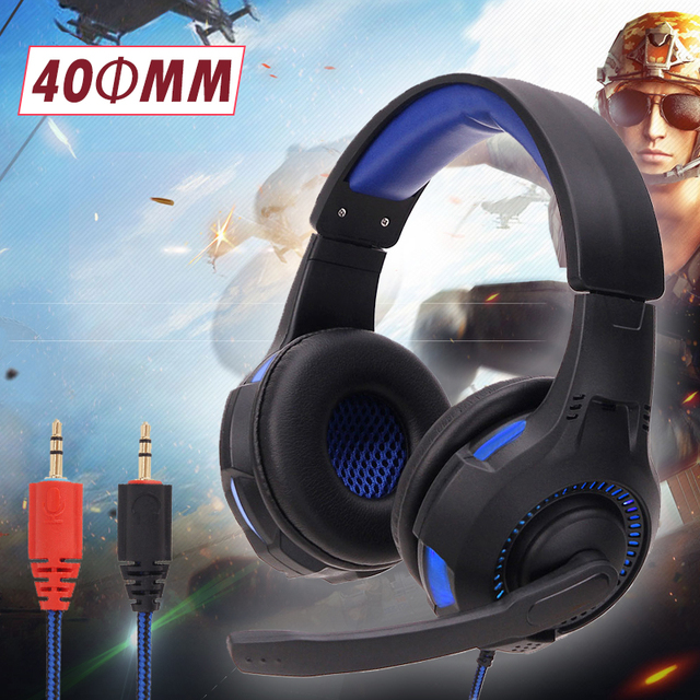 Durable Wired Headphone Game Microphone Earphone Tablet Portable Game Earphone Laptop